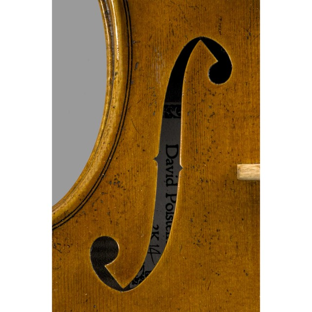 Photo of Late Del Gesu model violin bass f hole